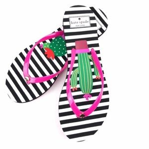 Kate spade~ Cactus flip flops
